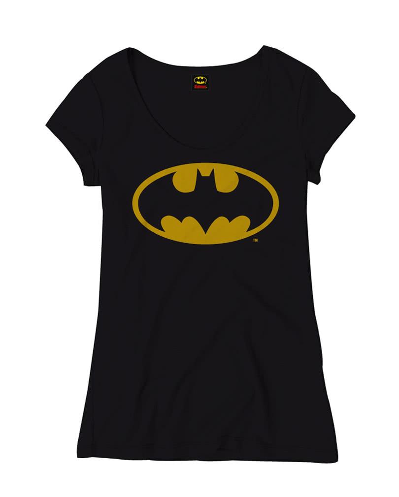 batman classic logo frauen t shirt superhelden. Black Bedroom Furniture Sets. Home Design Ideas