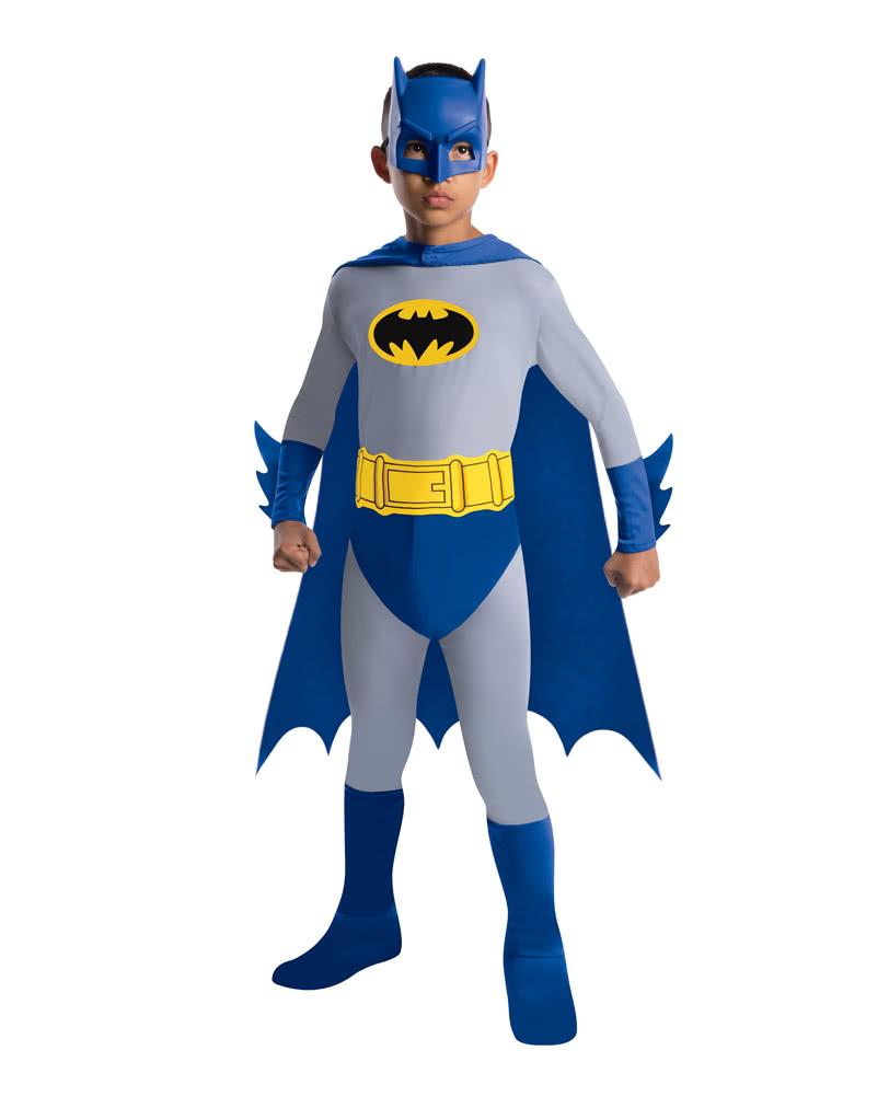 Batman Brave Bold Blue Super Hero Superhero Fancy Dress Halloween Adult Costume