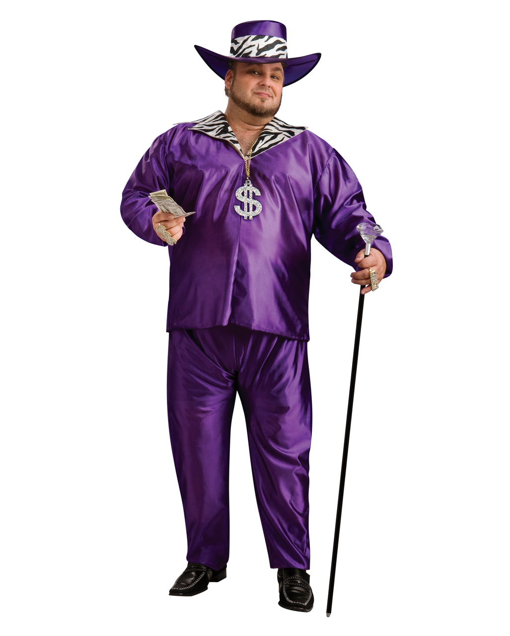 ADULT MENS PIMP DADDY GANGSTER FUN INFLATABLE FANCY DRESS HALLOWEEN COSTUME
