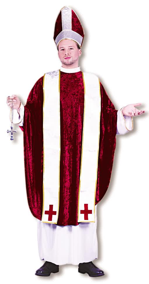 bischof kost m weiss rot geistliche kost me kirchen kost m kardinal verkleidung horror. Black Bedroom Furniture Sets. Home Design Ideas