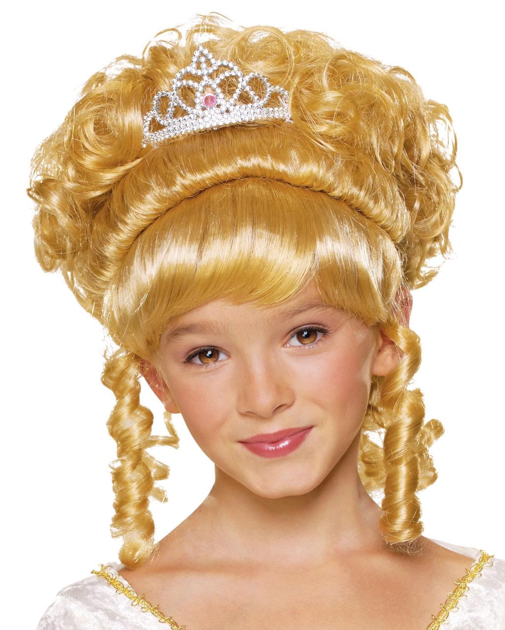 Kinderperücke blond mit Locken kleine Prinzessin Perücke Kinder Fasching Party