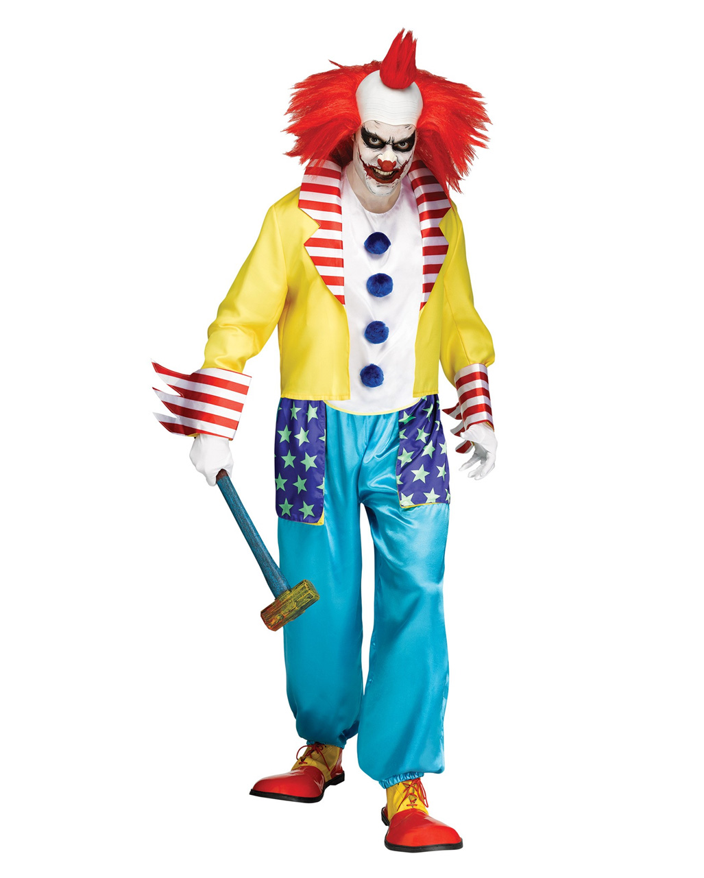 Halloween Clown.Wicked Clown Halloween Costume