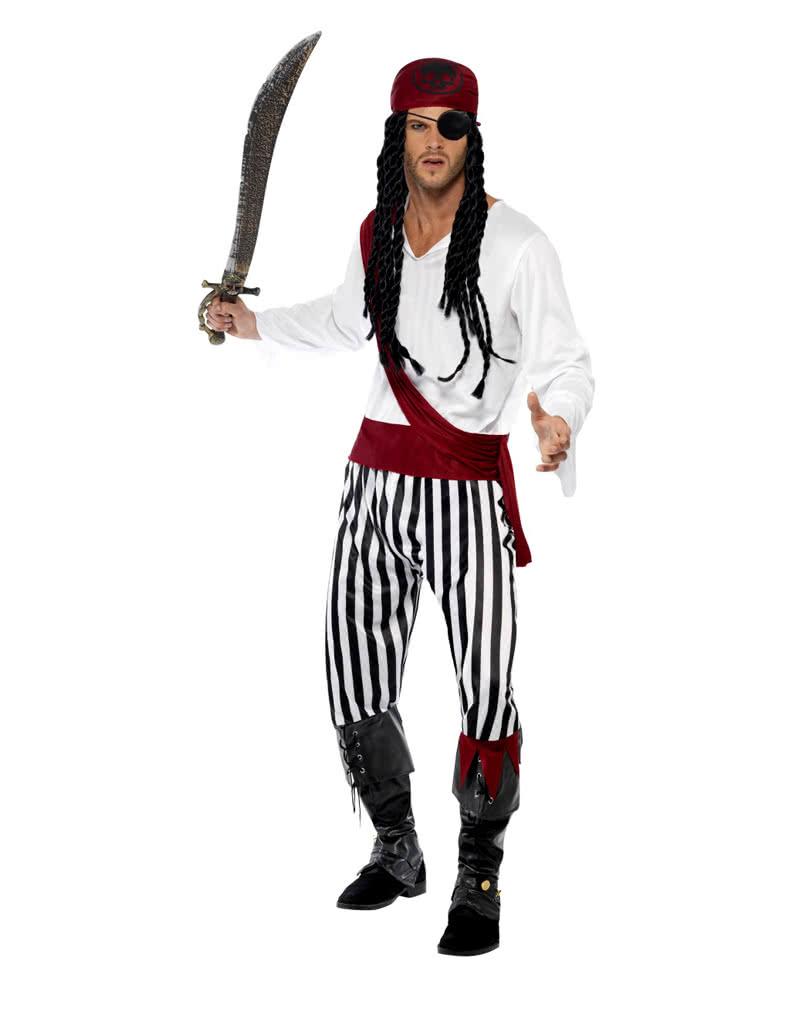 4 Teilig Piratenkostüm Herren  Pirat Freibeuter Seerüber Kostüm Karneval  Gr M