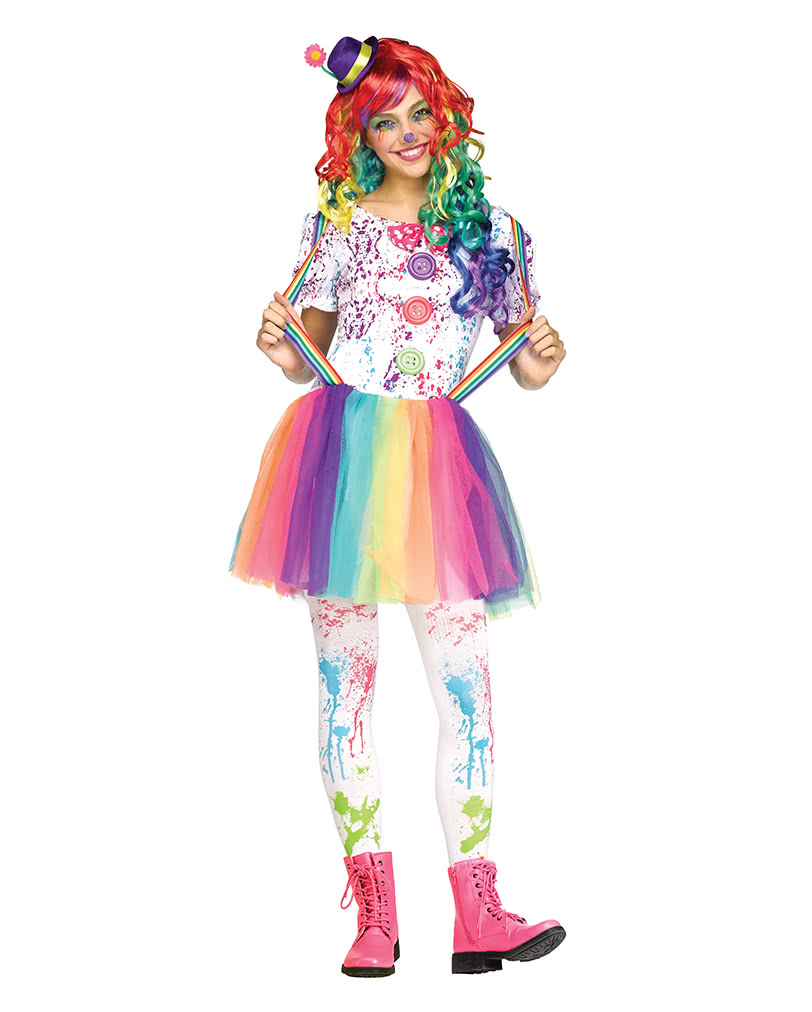 rainbow clown costume teenagers children teenagers coverings horror. Black Bedroom Furniture Sets. Home Design Ideas