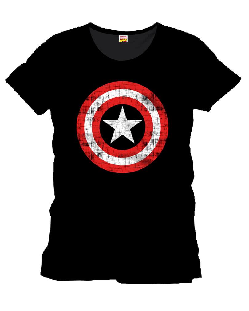 captain america damen t shirt the shield avengers t. Black Bedroom Furniture Sets. Home Design Ideas