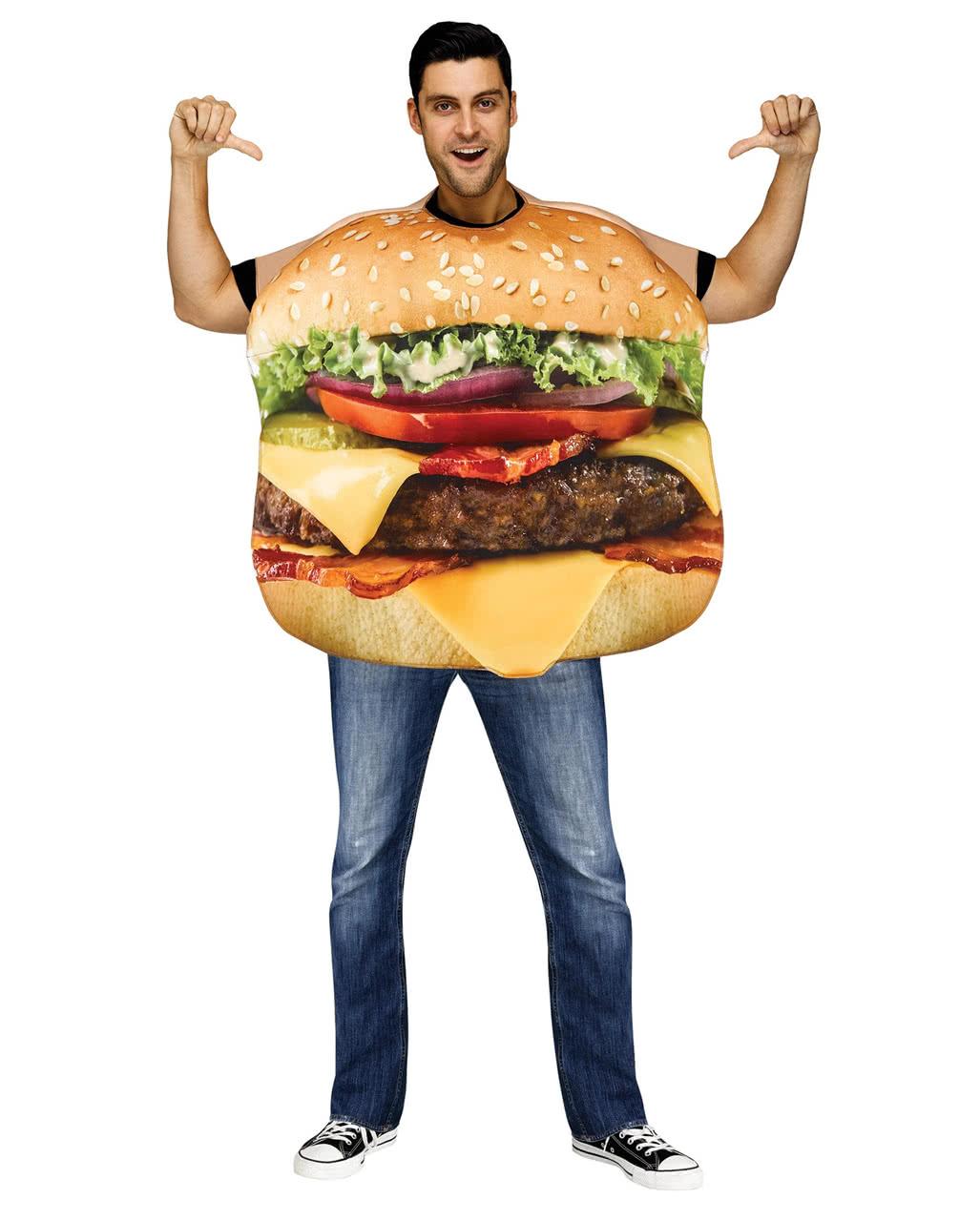 cheeseburger kost m deluxe f r karneval horror. Black Bedroom Furniture Sets. Home Design Ideas