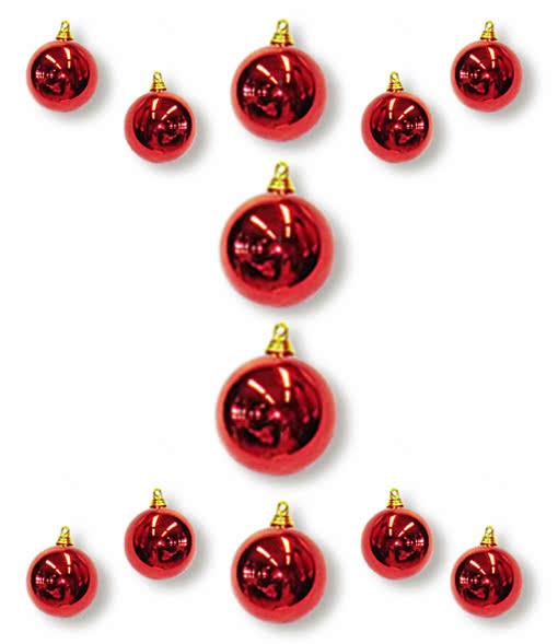 Nightmare Before Christmas Christbaumkugeln.Christbaumkugeln Rot 12 St