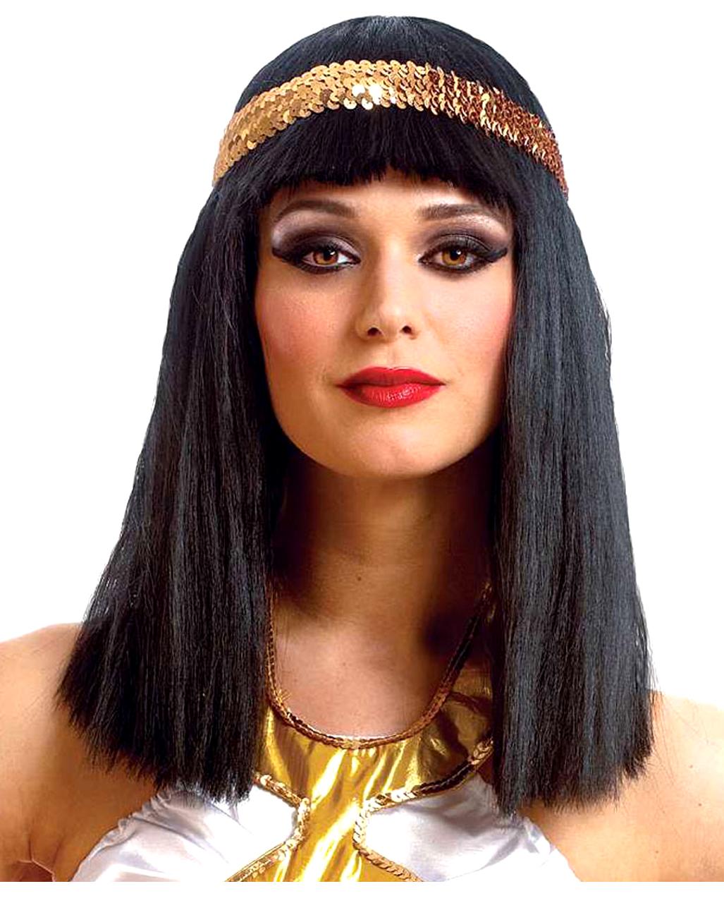 cleopatra per cke mit pailletten stirnband f r halloween horror. Black Bedroom Furniture Sets. Home Design Ideas