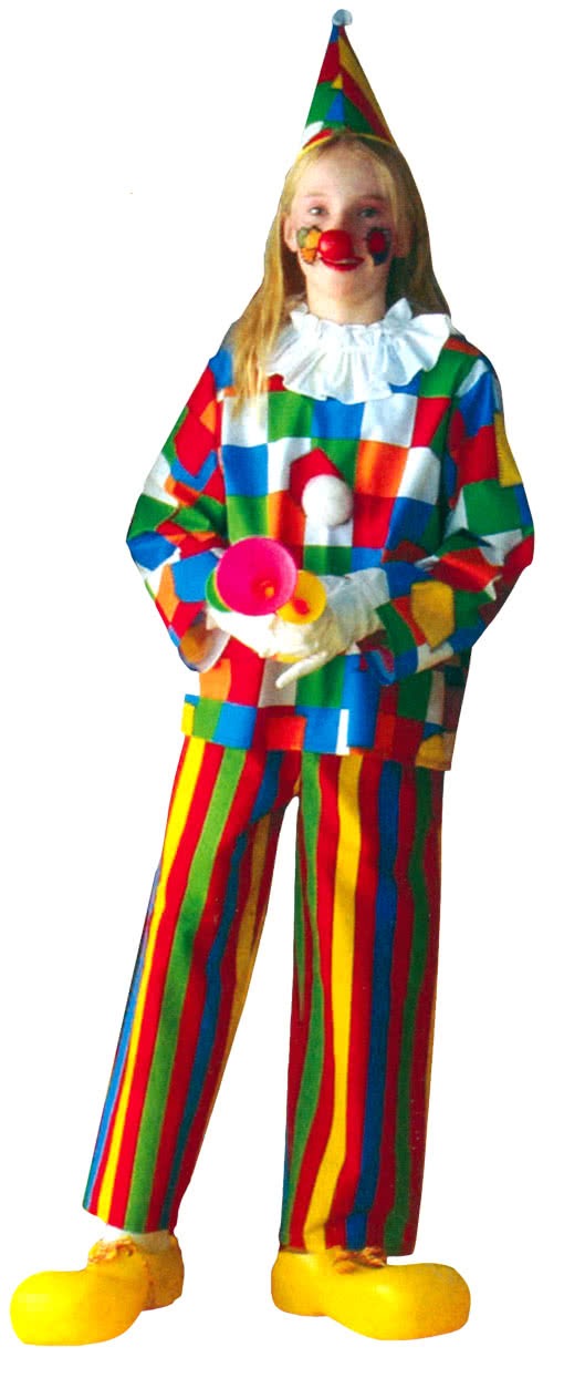 clown child costume 3 pieces buy cheap horror. Black Bedroom Furniture Sets. Home Design Ideas