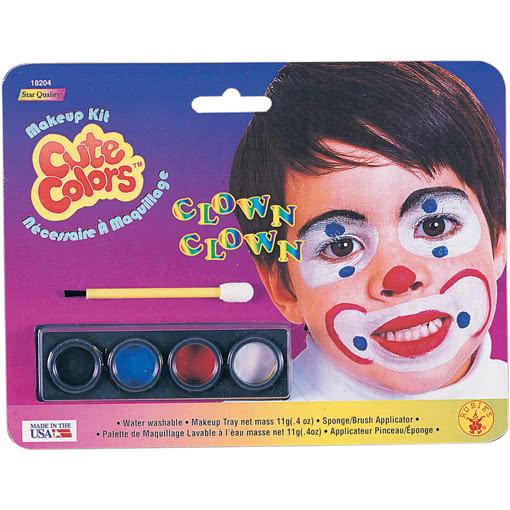 clown schminke f r kinder schminkset clown f r. Black Bedroom Furniture Sets. Home Design Ideas