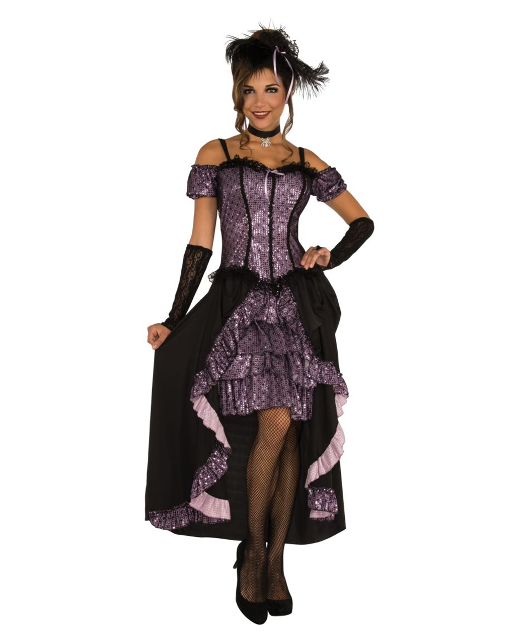 Thigh Highs ONLY Burlesque Dance Costume Can Can Saloon Girl Halloween Leggings