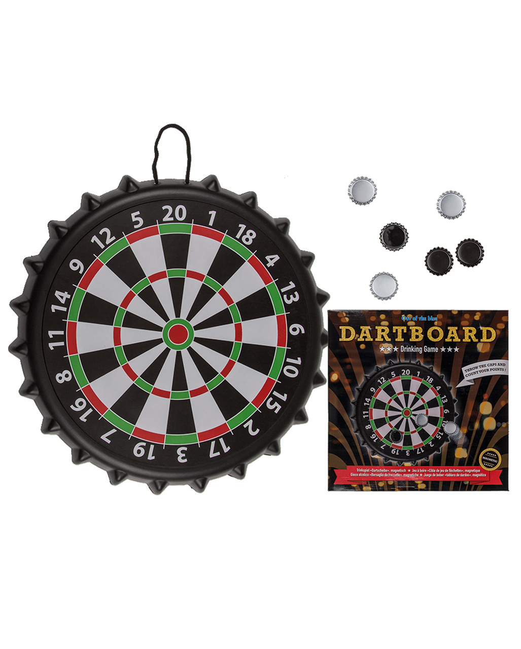 Adult Dartboard Darts Fancy Dress Costume Mens Ladies Stag Hen Do Sport Outfit