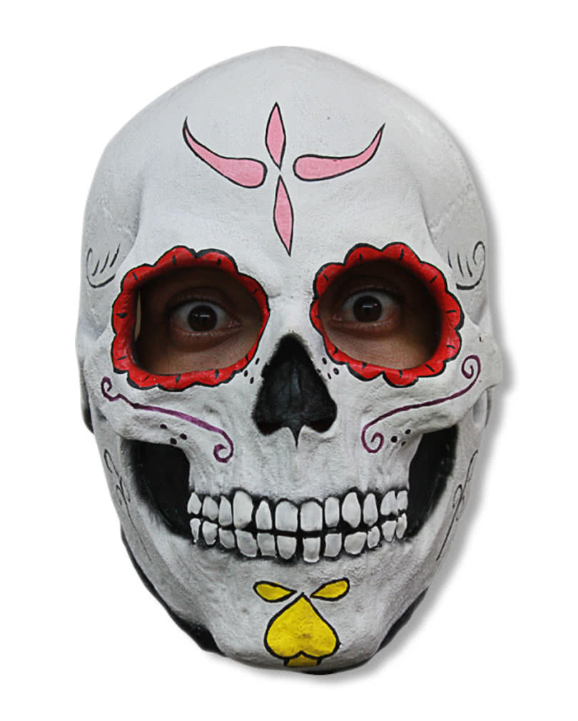 Skeleton Skull Mask Day of the Dead Bones Latex Halloween Horror Slipknot Style