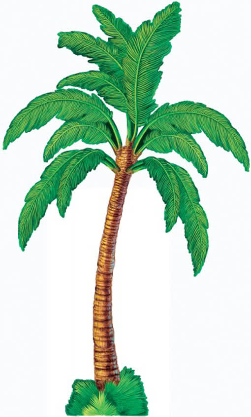 Palm trees decoration made of cardboard palm from one - Palme zimmer ...