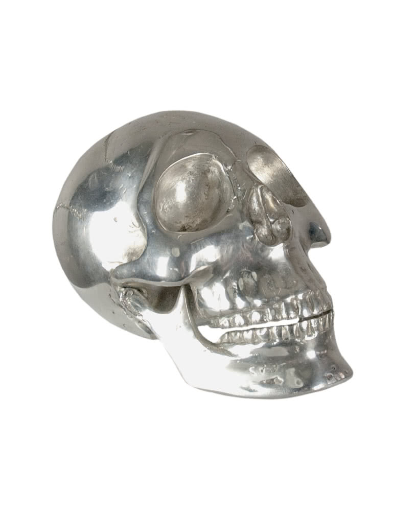 deco skull small silver skull as gothic deco horror. Black Bedroom Furniture Sets. Home Design Ideas
