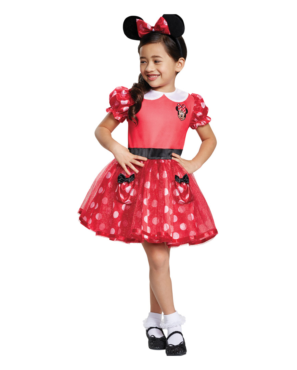 Minnie Mouse Kinder Kostumkleid Rot Fur Fasching Horror Shop Com