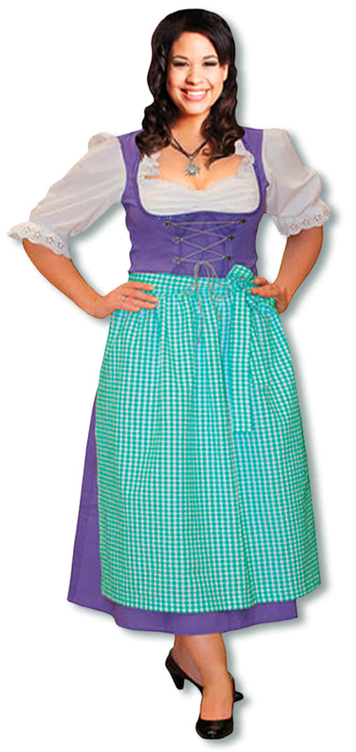 dirndl costume purple plus size  bavarian costumes for