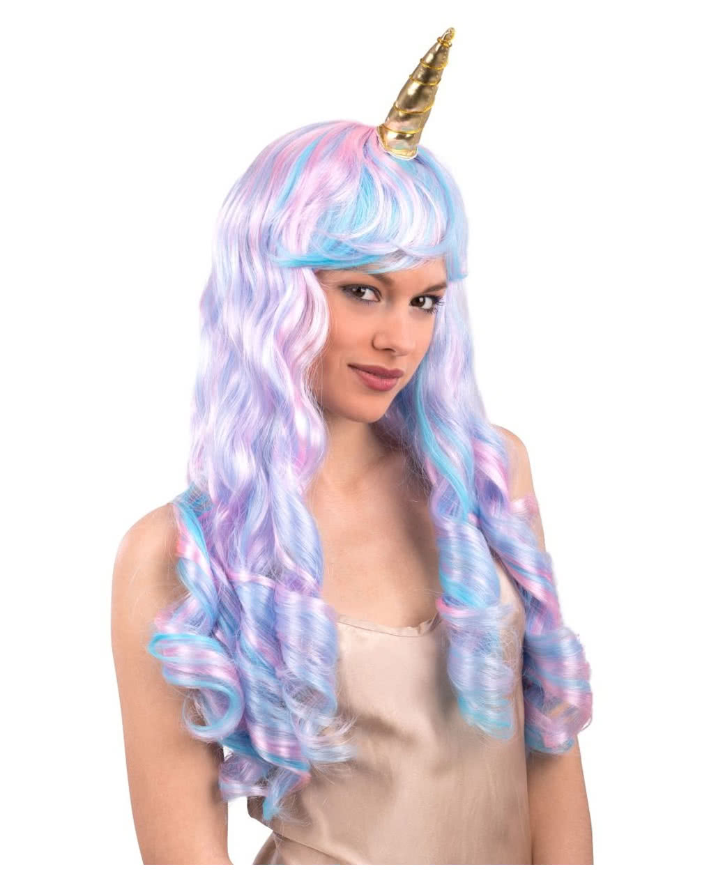 Unicorn Wig With Horn As costume accessories | horror-shop.com