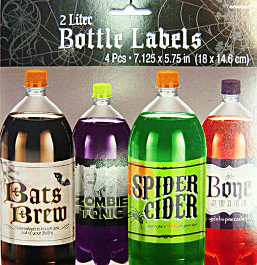 etiketten f r flaschen 4er set flaschen etiketten flaschen aufkleber flaschenlabel horror. Black Bedroom Furniture Sets. Home Design Ideas