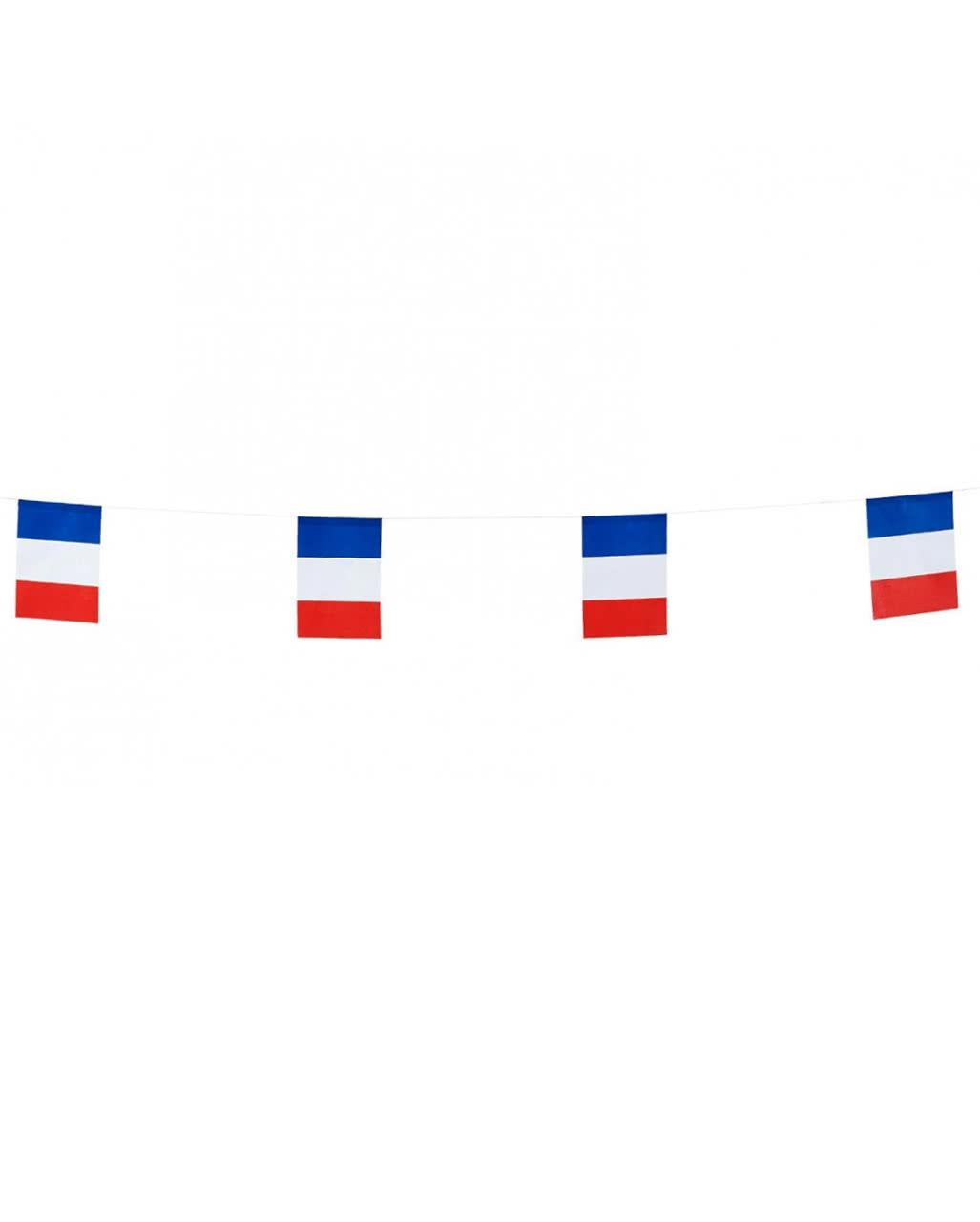Fahnen girlande frankreich als h nge dekoration horror for Frankreich dekoration