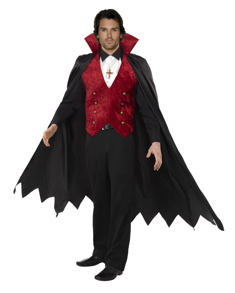 vampire costume for men dracula men s costume with cape horror. Black Bedroom Furniture Sets. Home Design Ideas