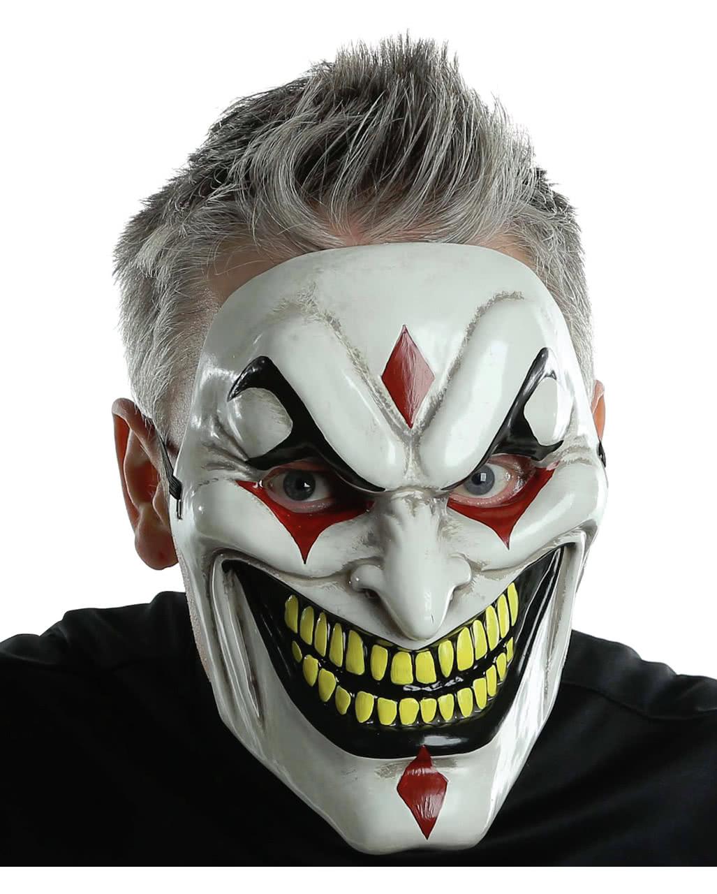 Evil Jester Horror Mask | Halloween half mask