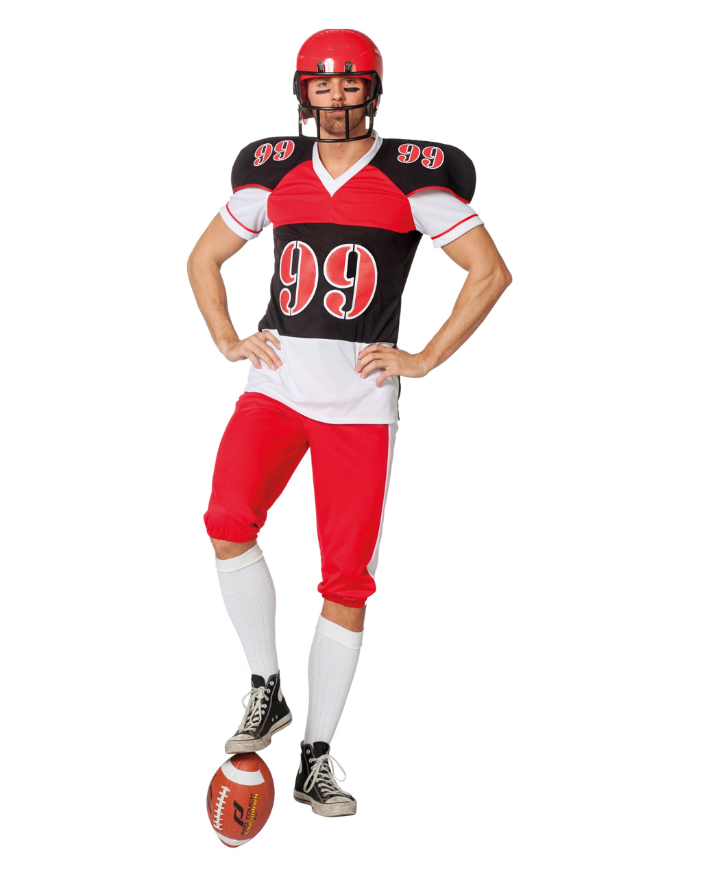 football spieler herren kost m f r karneval horror. Black Bedroom Furniture Sets. Home Design Ideas