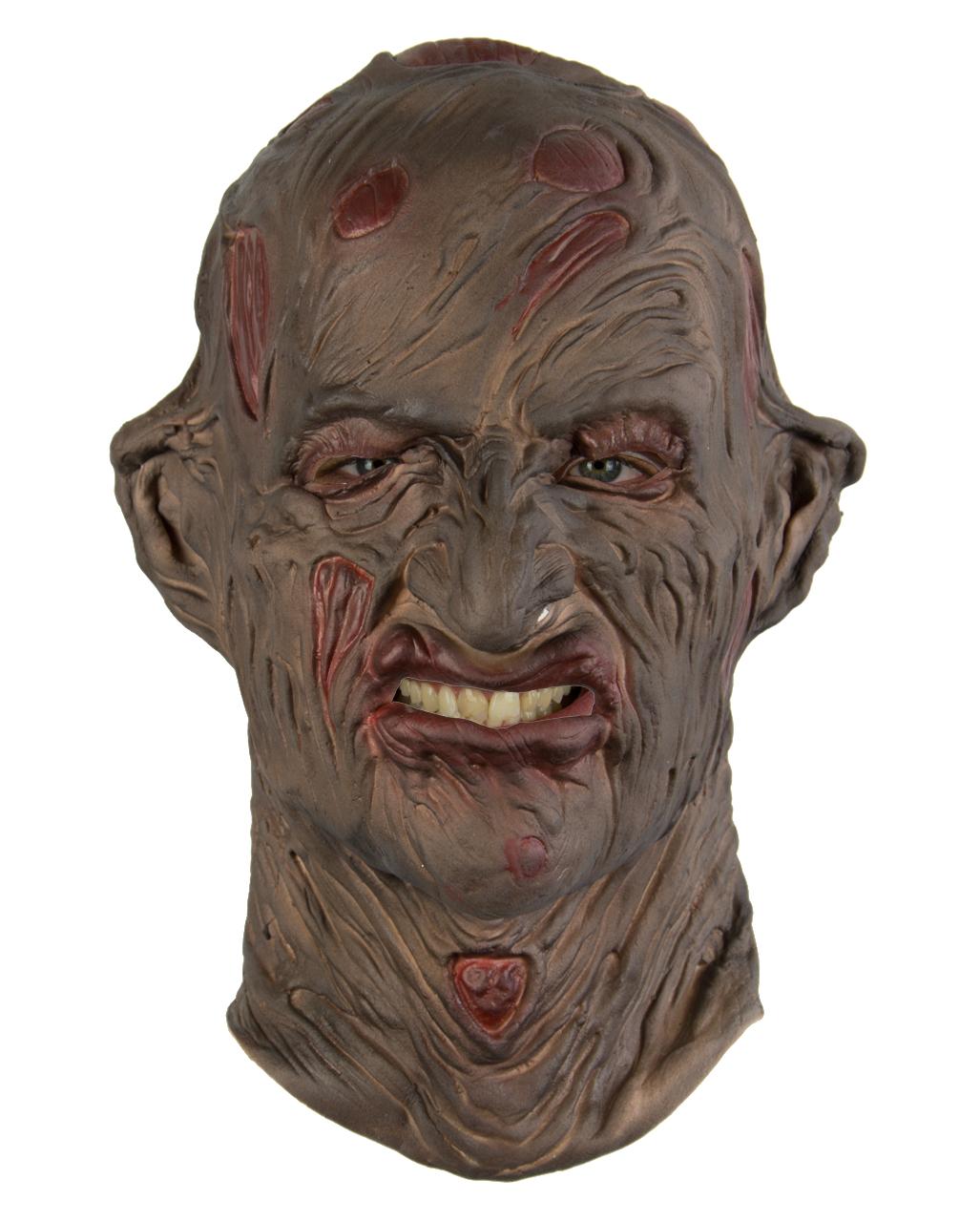 Freddy Burnt Burned Man Halloween Fancy Dress Elm St Jumper Hat Face Mask Glove