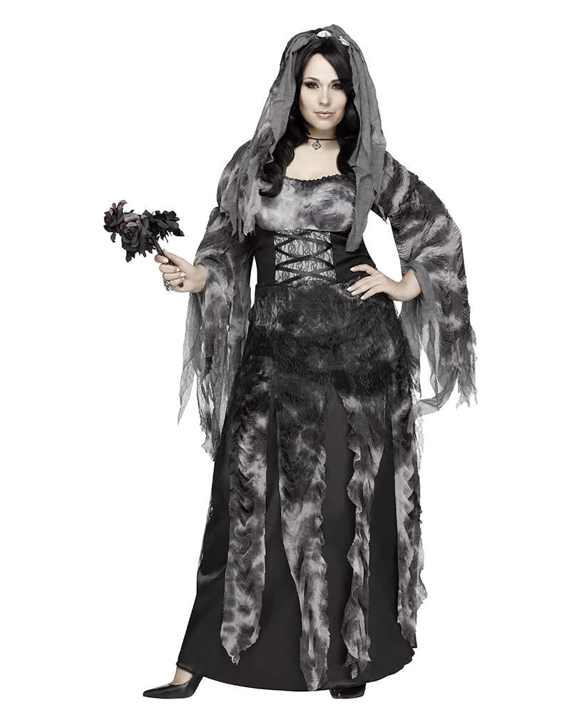 Ghostly Spirits Womens Adult Dead Bridal Halloween Accessory Veil