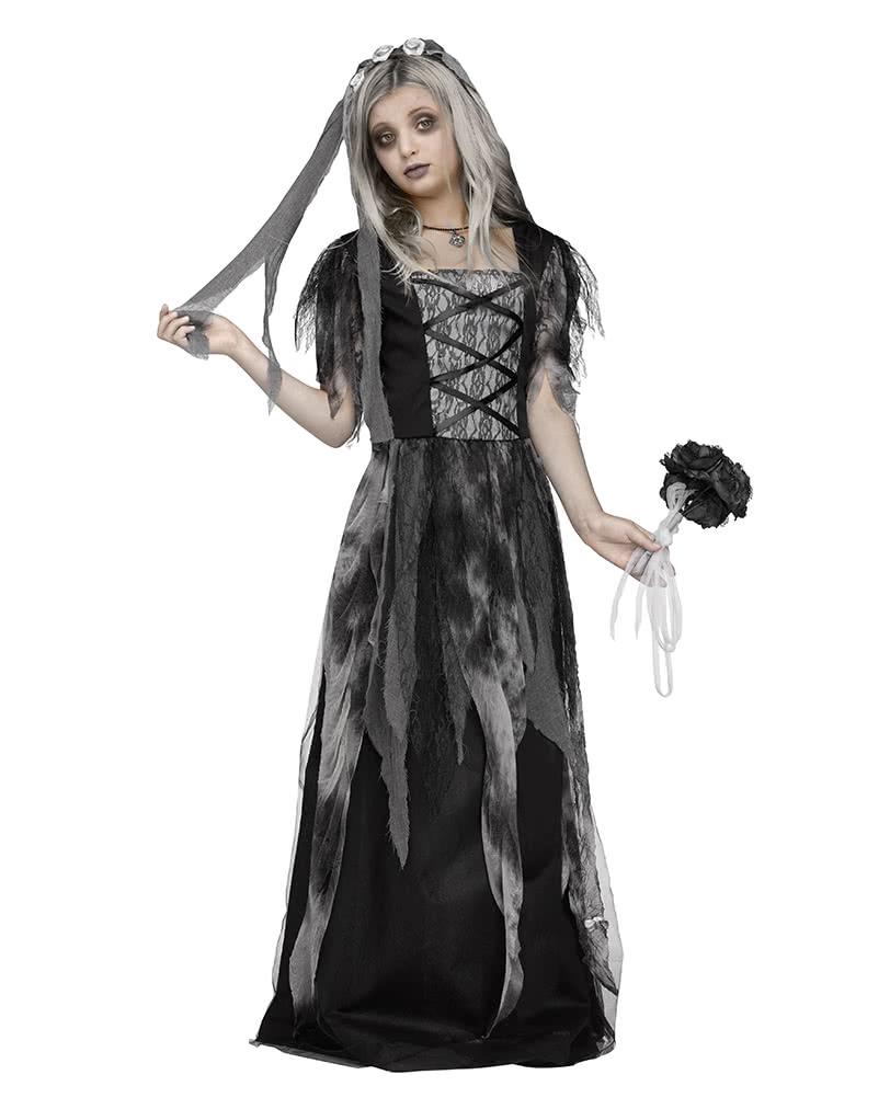 Halloween Bride.Graveyard Bride Child Costume With Veil