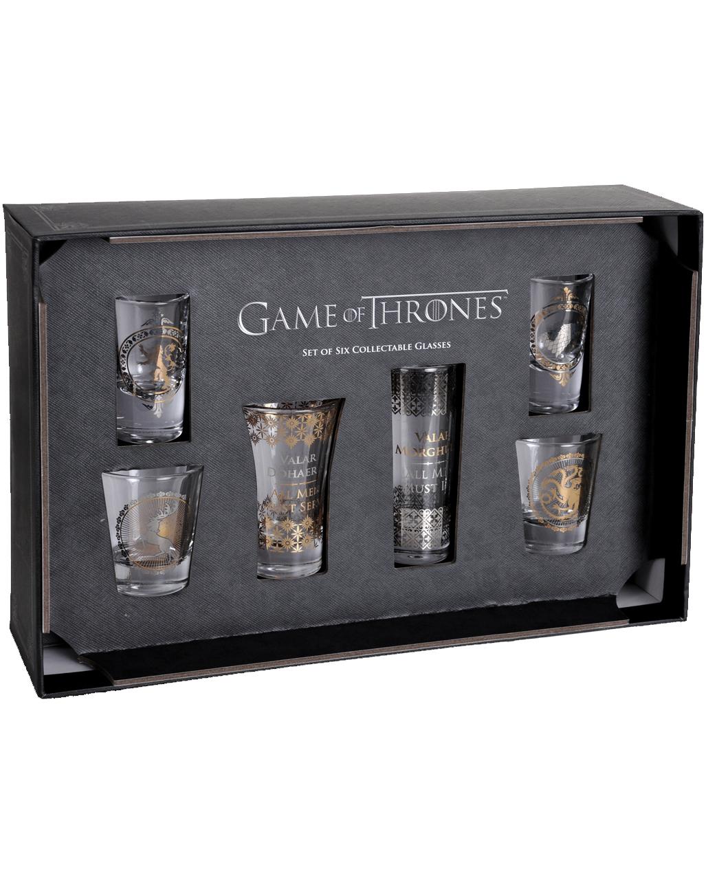 game of thrones wappen shot gl ser 6 st ck kaufen horror. Black Bedroom Furniture Sets. Home Design Ideas