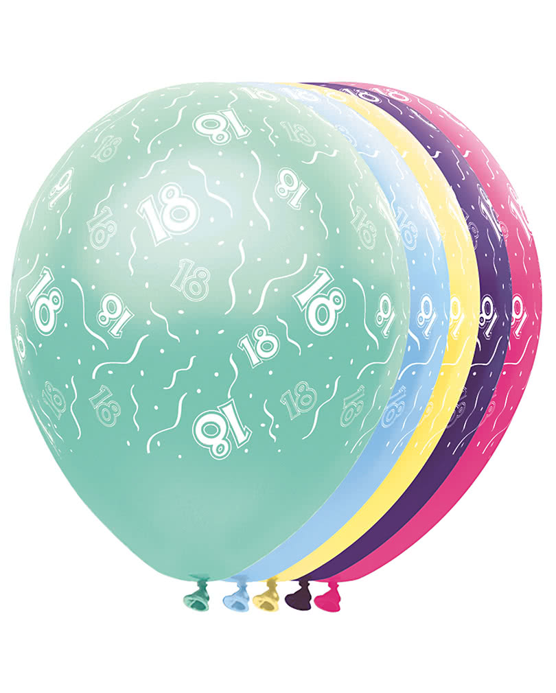 geburtstag ballons 18 metallic ballons f r den 18. Black Bedroom Furniture Sets. Home Design Ideas