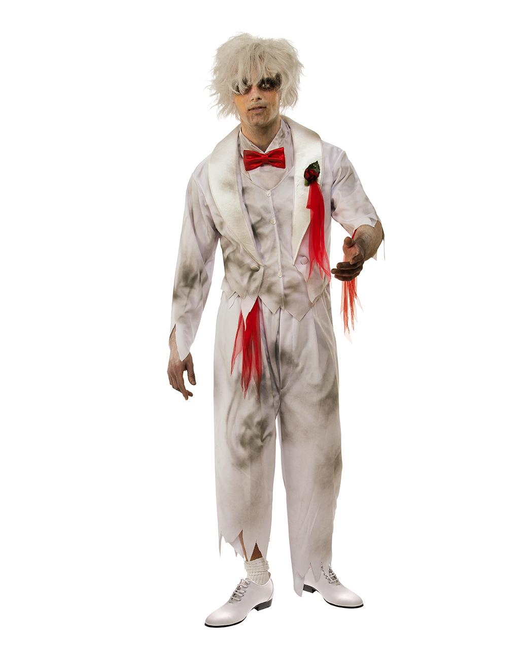 Damen-Kostüm Geister-Lady mit Hut und Schleier Halloween Geisterbraut