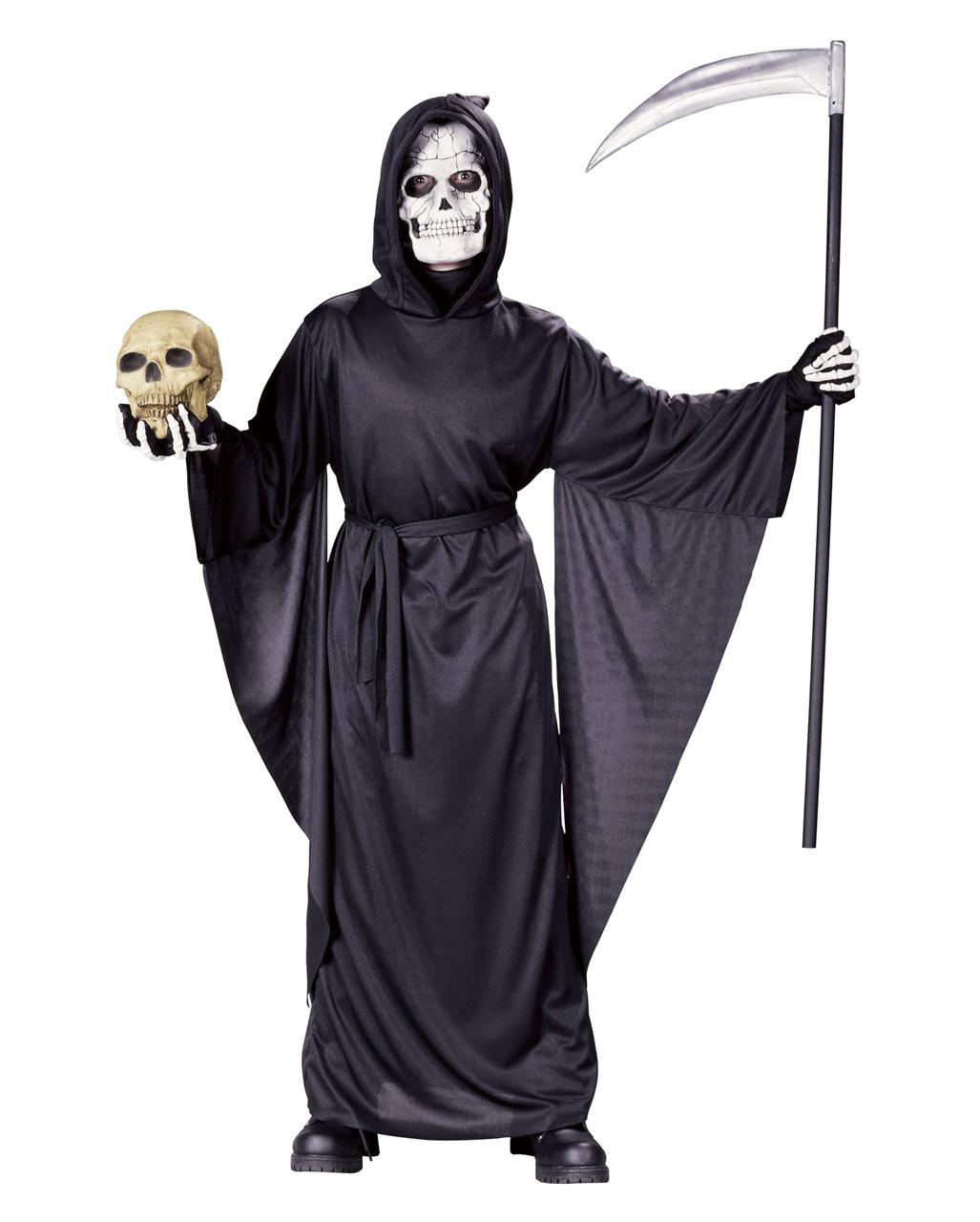 Grim Reaper Cosplay Black Costume Full Set Outfit Halloween Gift Cloak Pants