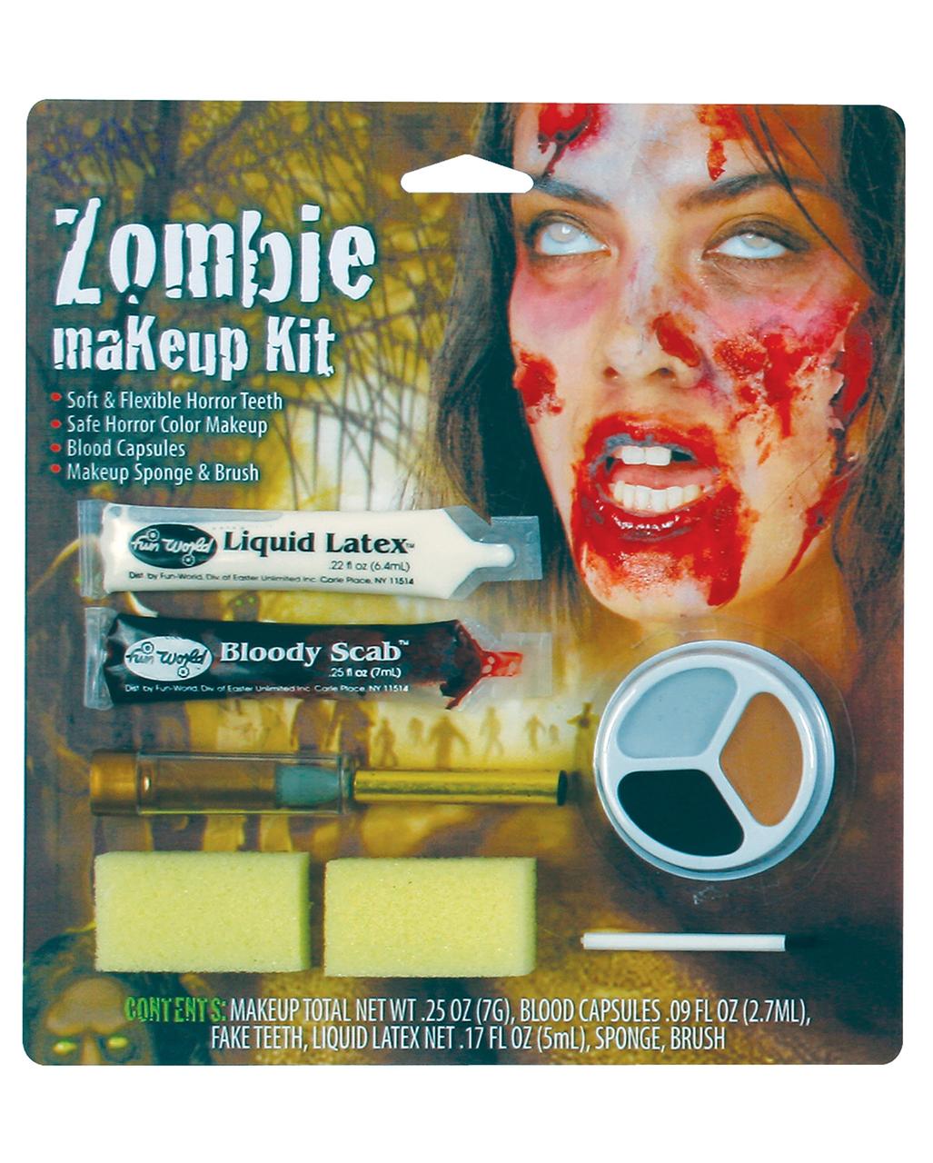 Zombie Girl Makeup Set Make Up