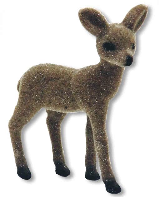 Glitzerndes bambi reh stehend glitzer reh weihnachtsdeko for Weihnachtsreh beleuchtet