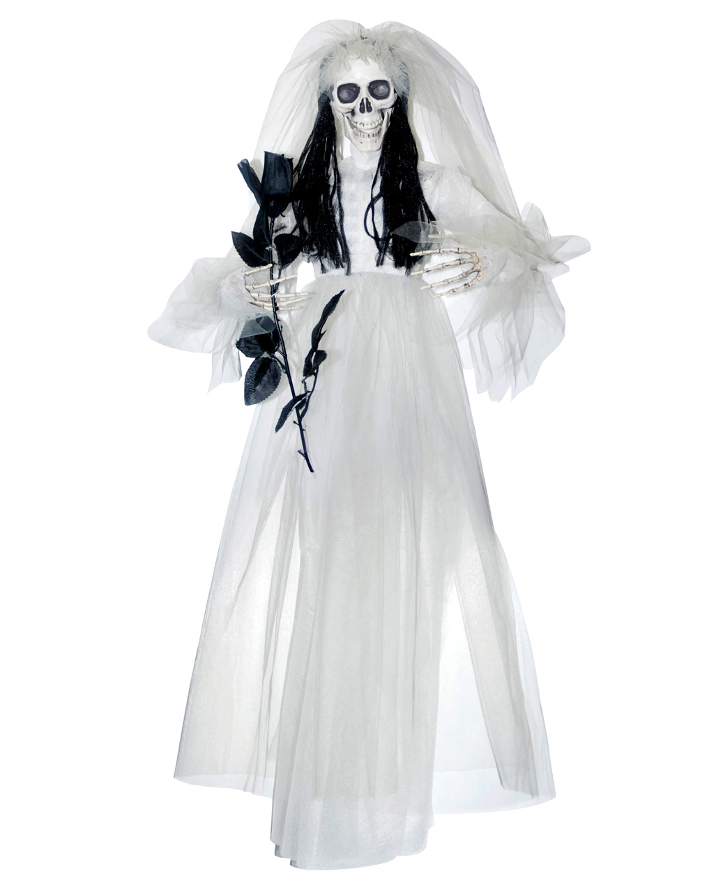 Halloween Bride.Hanging Skeleton Bride With Rose