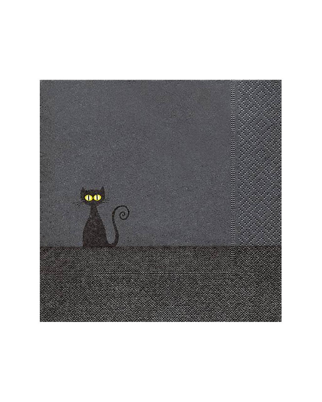 schwarze katze halloween servietten 20 st ck kaufen horror. Black Bedroom Furniture Sets. Home Design Ideas
