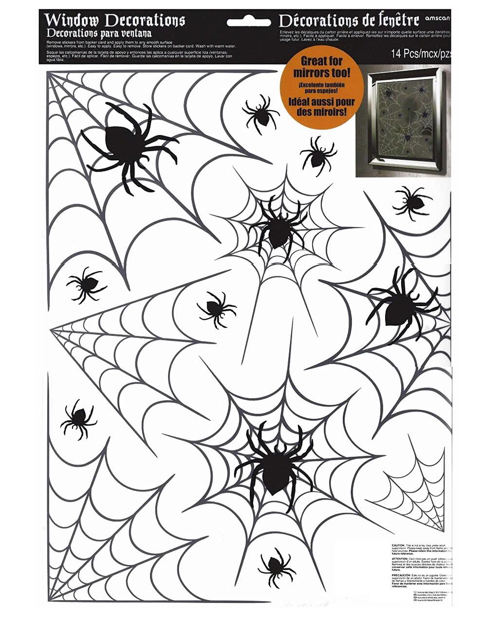 halloween spinnennetz fenstersticker als party deko horror. Black Bedroom Furniture Sets. Home Design Ideas