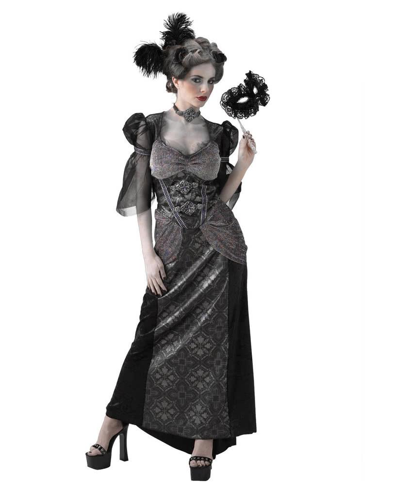 schwarze gr fin kost m barockes ballkleid f r halloween horror. Black Bedroom Furniture Sets. Home Design Ideas