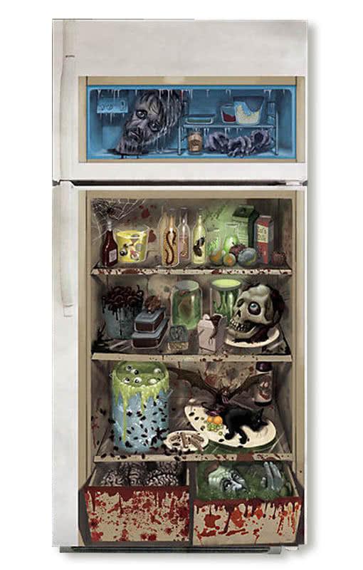 Kühlschrank Deko.Zombie Kühlschrank Deko