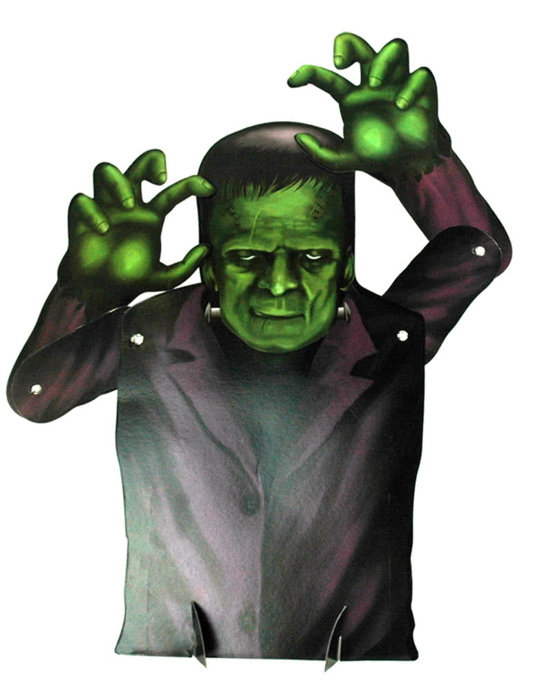 halloween decoration frankenstein creepy decorative cardboard cutout horror. Black Bedroom Furniture Sets. Home Design Ideas