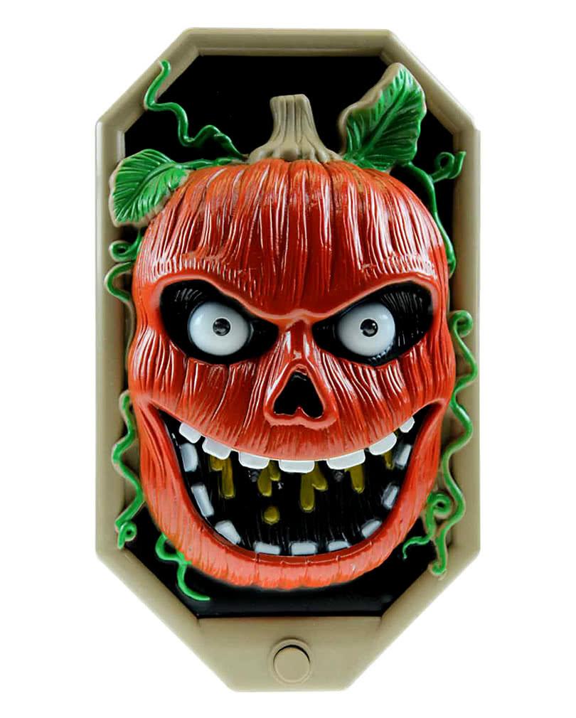 scary halloween t rklingel halloween t rglocke mit k rbis motiv horror. Black Bedroom Furniture Sets. Home Design Ideas
