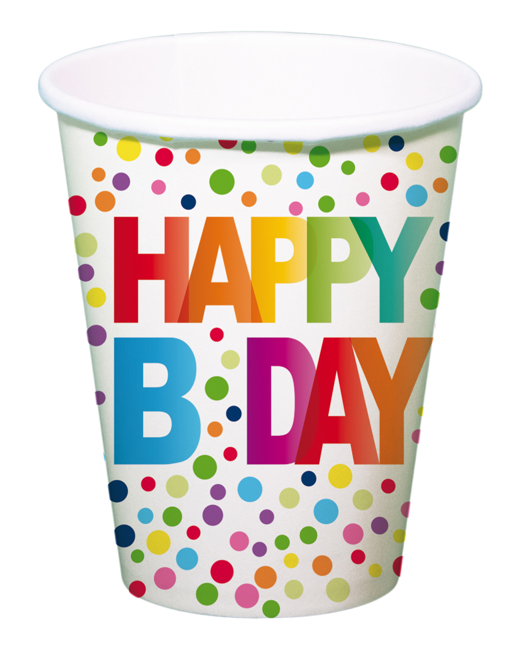 Happy b day paper cup 8 pieces as a table decoration for B day party decoration