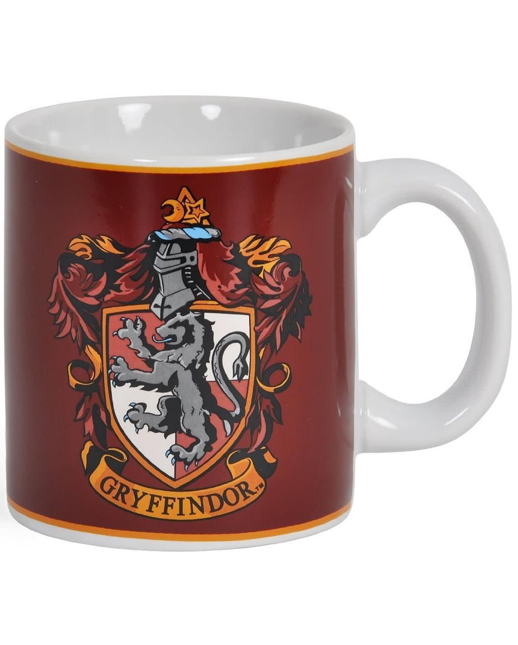 Official Harry Potter Gryffindor Ceramic Travel Mug In Presentation Box