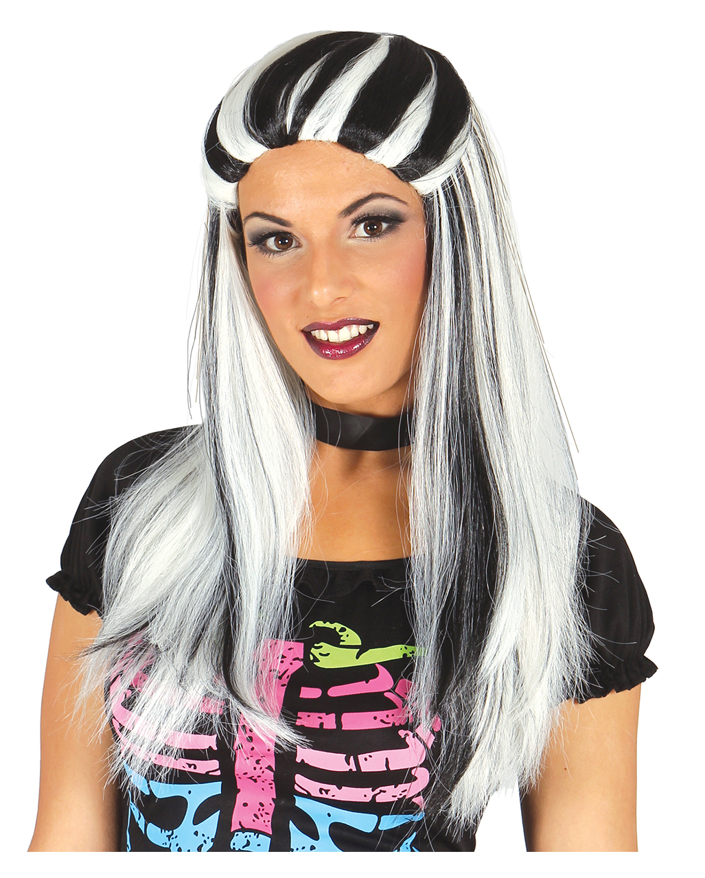 Silver Witch Wig Ladies Halloween Fancy Dress Womens Adult Costume Accessory Wig
