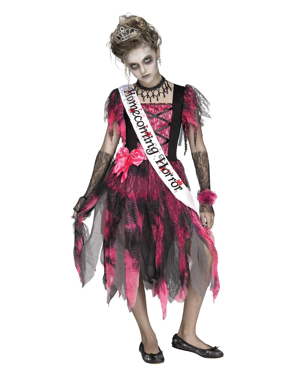 CHILD GIRLS ZOMBIE ROCKER SCARY FANCY DRESS HALLOWEEN PUNK COSTUME
