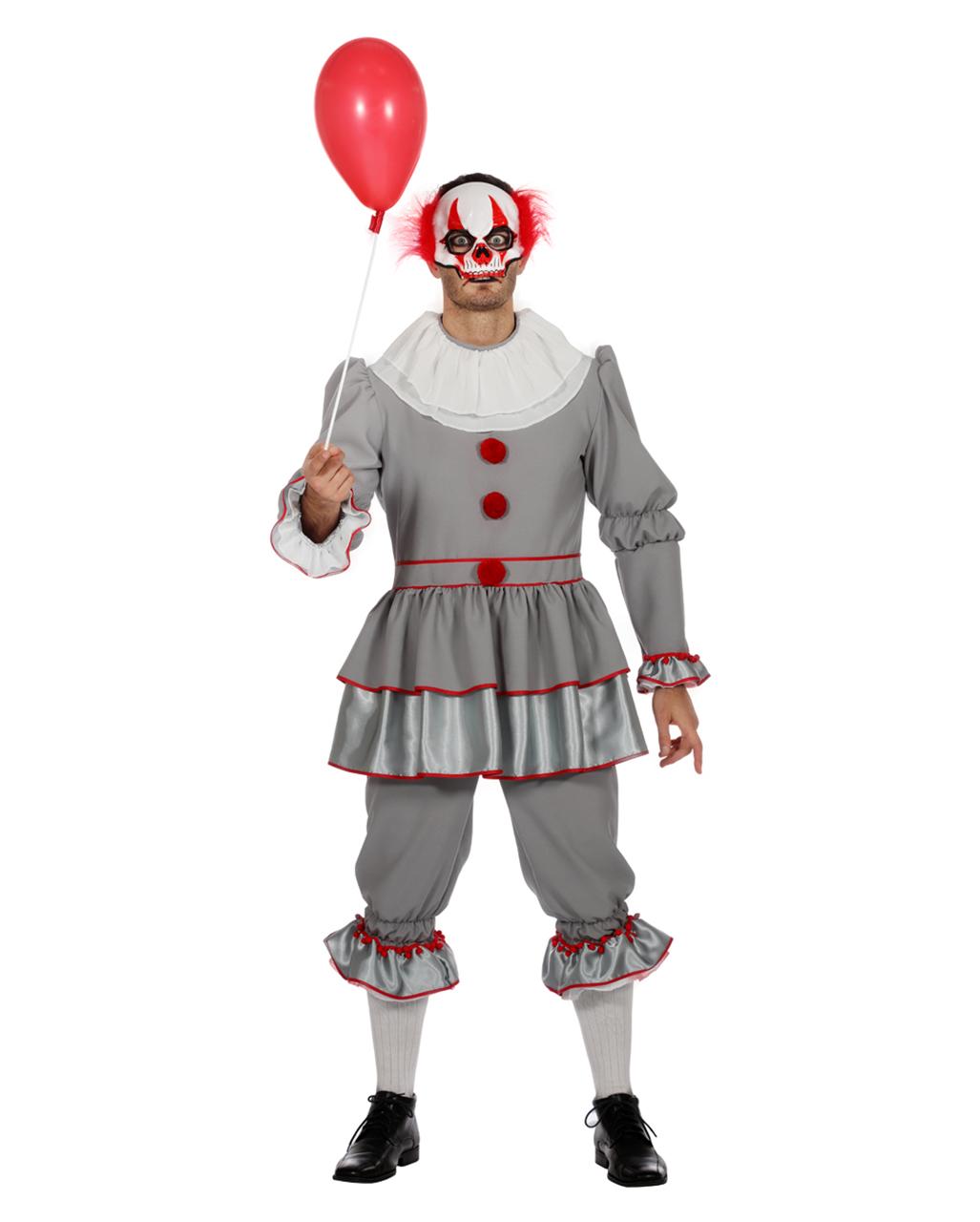 Horror Clown Herren Kostüm für Halloween   Horror-Shop.com