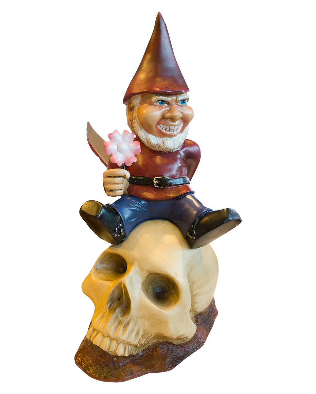 Garden Gnome Dwarf One Handed Walking Dead Zombie Figurine Statue Decor Horror
