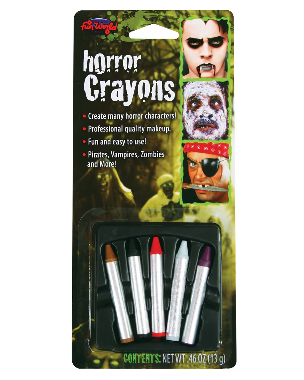 horror make up pencils 5 pcs for halloween horror. Black Bedroom Furniture Sets. Home Design Ideas